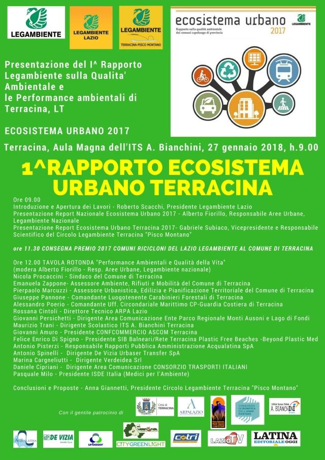 Presentazione ECOSISTEMA URBANO TERRACINA 27 gennaio 2018